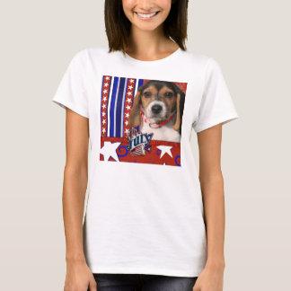 T-shirt 4 juillet pétard - chiot de beagle
