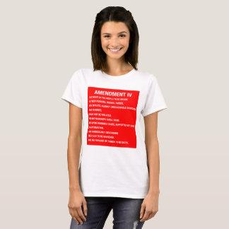 T-shirt 4ème Chemise d'amendement