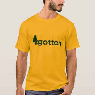 T-shirt 4gotten - T des hommes d'or