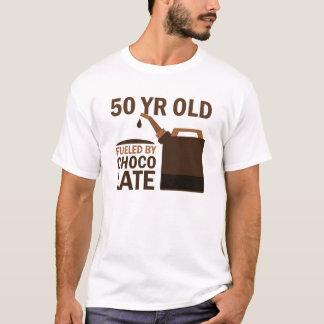 T-shirt 50 ans alimentés par le chocolat