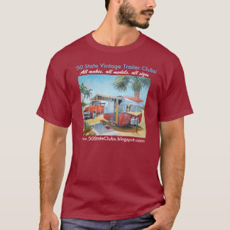 """T-shirt """"50 clubs d'état"""" lourds"""