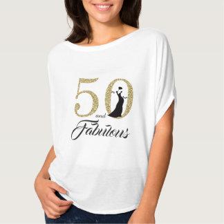 T-shirt 50 et fête d'anniversaire fabuleuse