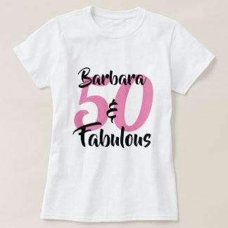 T-shirt 50 et fête d'anniversaire personnalisée fabuleuse