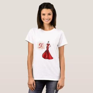 T-shirt 50 et mode fabuleuse d'illustration d'anniversaire
