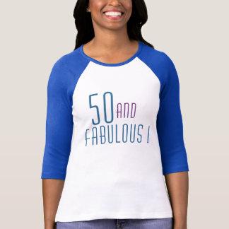 T-shirt 50 et pièce en t FABULEUSE d'anniversaire