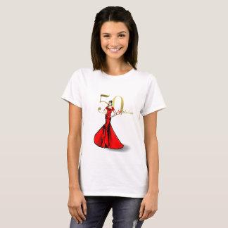 T-shirt 50 fascinants et mode fabuleuse d'anniversaire