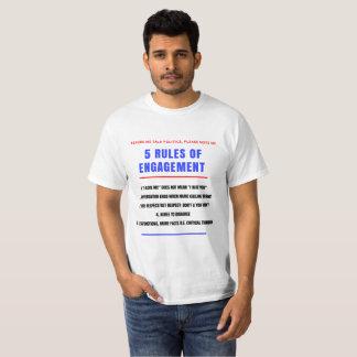 T-shirt 5 règles pour le fiançailles - hommes