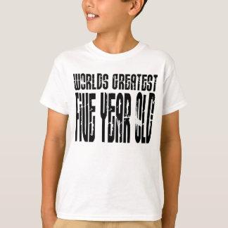 T-shirt 5ème Vieux de cinq ans des mondes de fête