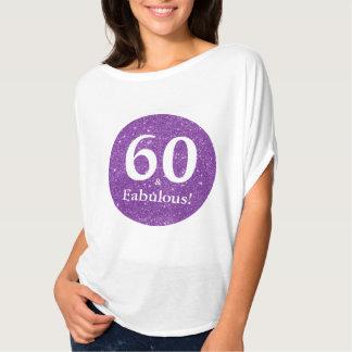 T-shirt 60 et étincelle pourpre de célébration fabuleuse