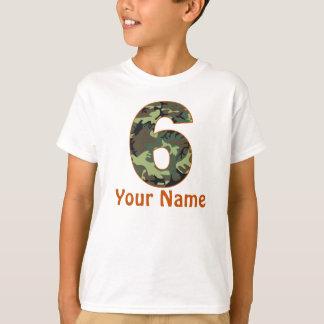 T-shirt 6ème Chemise de Camo personnalisée par