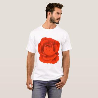 T-shirt 6x plus la chemise de fleur de rose rouge de
