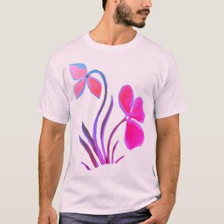 T-shirt 6x plus la chemise florale en pastel rose orange