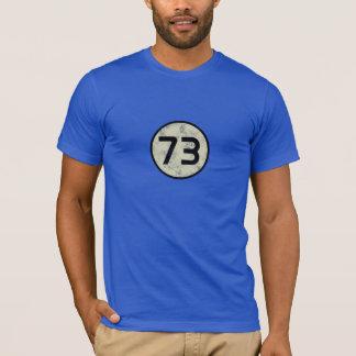 T-shirt 73 - Le meilleur nombre - bleu royal