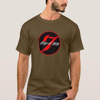 T-shirt 7 jours de peuvent le logo rond T