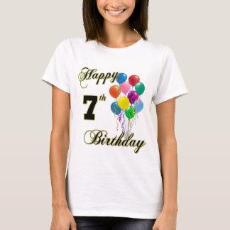 T-shirt 7èmes chemises d'anniversaire et habillement