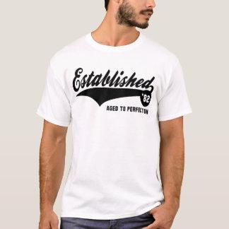 T-shirt 82 établis - Chemise d'anniversaire