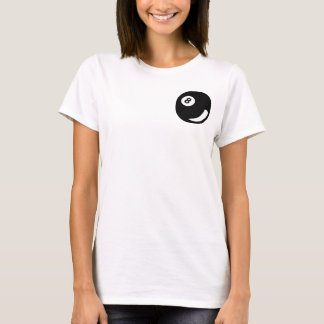 T-shirt 8 billards de noir de boule de billard de piscine