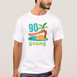 T-shirt 90 ans de jeune cadeau d'anniversaire