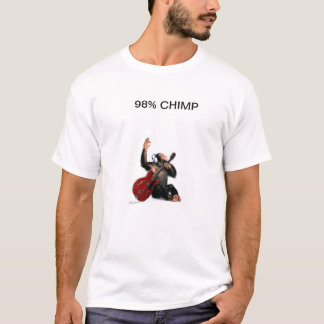 T-SHIRT 98% CHIMP PLAY GUITAR