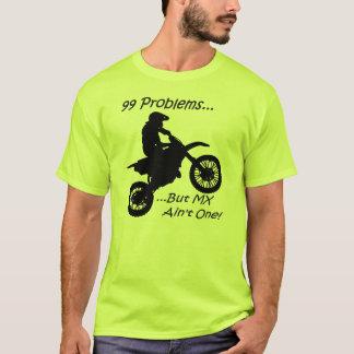 T-shirt 99 problèmes mais MX n'est pas un ! Noir sur le