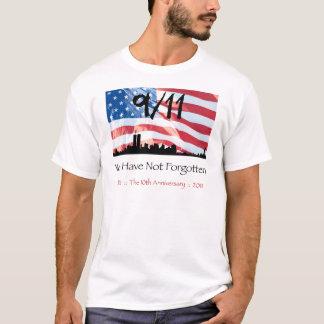 T-shirt 9/11 10ème anniversaire WTC et le drapeau