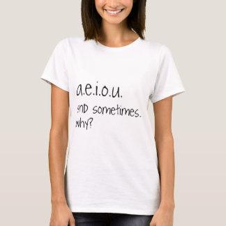 T-shirt a.e.i.o.u. et parfois…