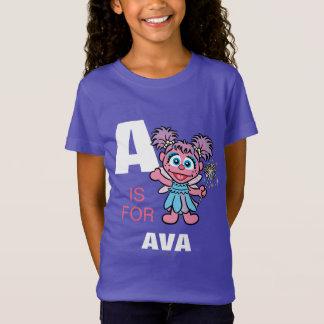 T-Shirt A est pour Abby Cadabby que   ajoutent votre nom