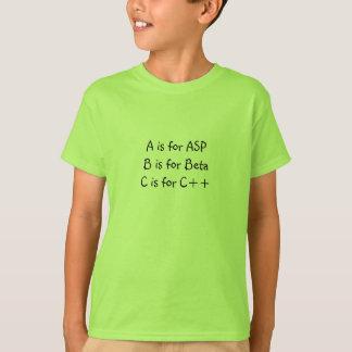 T-shirt A est pour l'asp