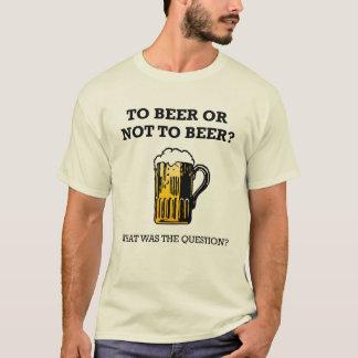 T-shirt À la bière ou pas à la bière ?