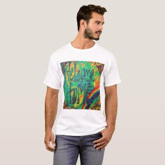 """T-shirt à la maison d'art de buvard de """"accueil de"""