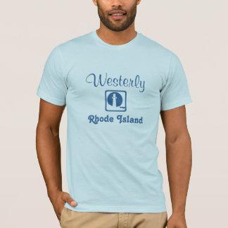 T-shirt À l'ouest, chemise bleu-clair d'Île de Rhode