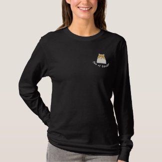 T-shirt À Manches Lomgues Brodée British longhair fan of Edredon