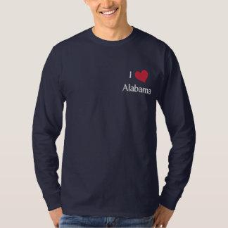 T-shirt À Manches Lomgues Brodée J'aime la chemise brodée parAlabama