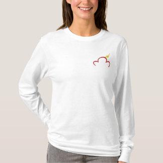 T-shirt À Manches Lomgues Brodée Longue douille de dames avec le logo brodé de