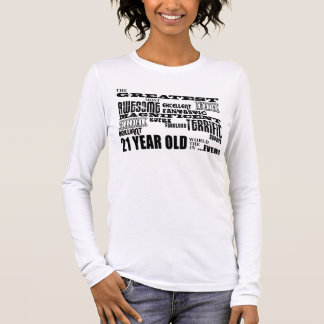 T-shirt À Manches Longues 21èmes ans de fête d'anniversaire d'amusement