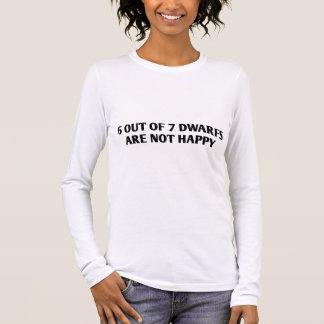 T-shirt À Manches Longues 6 sur 7 nains ne sont pas heureux