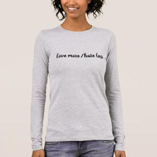 T-shirt À Manches Longues Aimez plus/haine moins de pièce en t