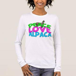 T-shirt À Manches Longues Alpaga d'amour de paix