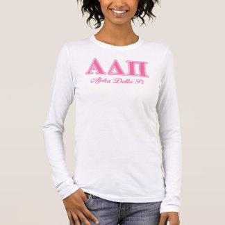 T-shirt À Manches Longues Alpha lettres roses du delta pi