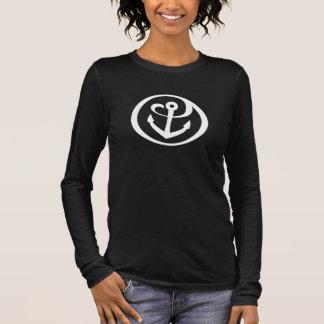 T-shirt À Manches Longues Alpha marque 2 d'ancre de Tau de sigma