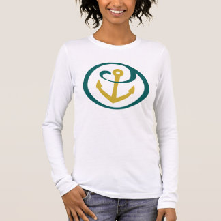 T-shirt À Manches Longues Alpha marque d'ancre de Tau de sigma