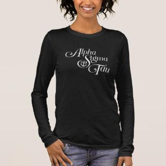 T-shirt À Manches Longues Alpha marque de verticale de Tau de sigma