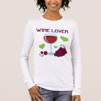 T-shirt À Manches Longues Amateur de vin