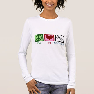T-shirt À Manches Longues Amour Scrapbooking de paix