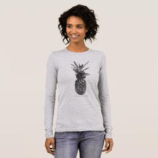 T-shirt À Manches Longues Ananas. Mangez les plantes. Faites les gains