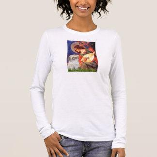 T-shirt À Manches Longues Ange de mandoline - Shih Tzu (p)