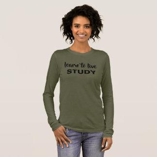 T-shirt À Manches Longues Apprenez à vivre, étudier