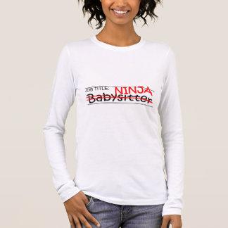 T-shirt À Manches Longues Babysitter de Ninja de fonction