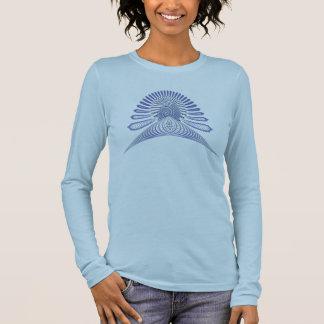 T-shirt À Manches Longues Bleu en pastel de serpent cosmique