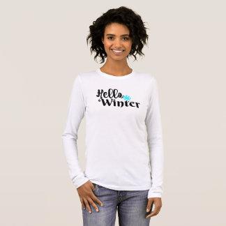 T-shirt À Manches Longues Bonjour hiver